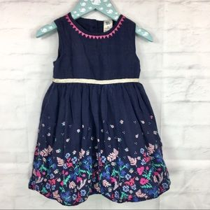 Baby B'gosh toddler dress 3T blue floral